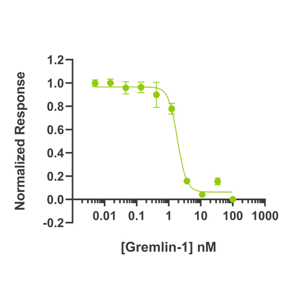 human Gremlin Qk015 protein bioactivity lot 011