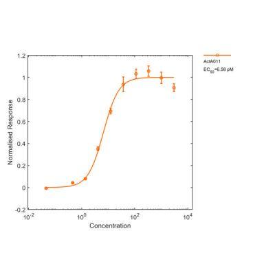 Human GDF-15 Qk017 protein positive control Activin A SMAD bioactivity