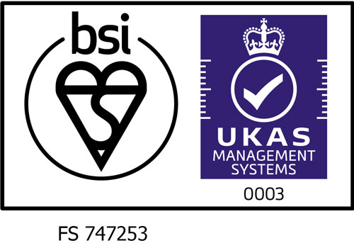 ISO9001:2015 certified from UKAS accredited provider BSI