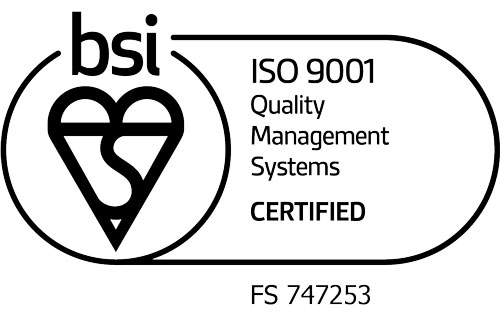 ISO9001:2015 certified mark of trust with certificate number FS 747253